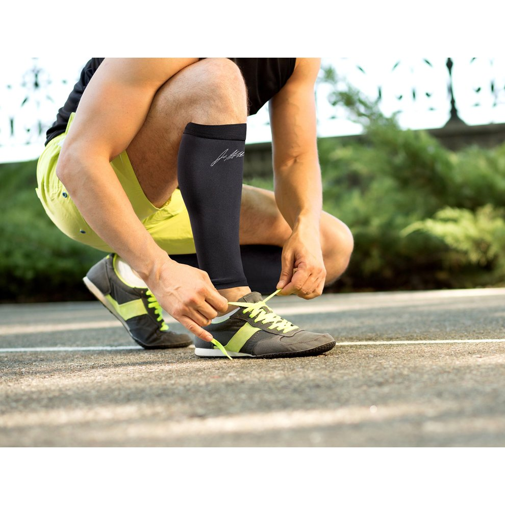 e7e524a9ee ... Doctor Developed Copper Infused Calf Compression Sleeve / Shin Support  [SINGLE] and Doctor Written. >