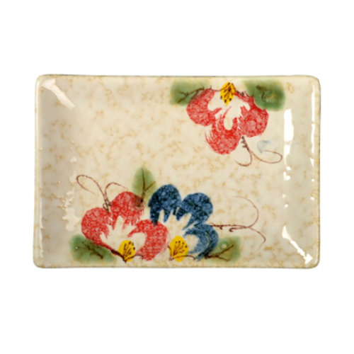 Rectangle Ceramic Dinner Plate Creative Japanese Sushi Plate, D