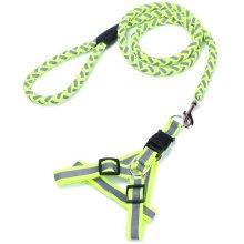 Pet Reflex Adjustable Rope Pet Dog Slip Training P-Leash Walking Leading Collar 3 Color
