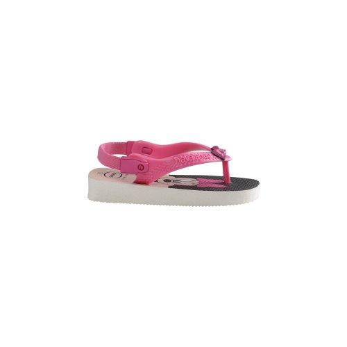 Havaianas Baby Disney Classic White/Rose Flip Flops - UK 4