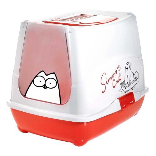 Karlie Simon's Cat Cat Toilet, 49.6 cm x 37.6 cm x 11.3 cm, red-white