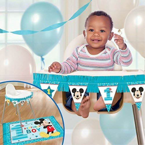 1st Birthday Mickey Mouse High Chair Decorating Kit Party Supplies Mickey Fun to be One!