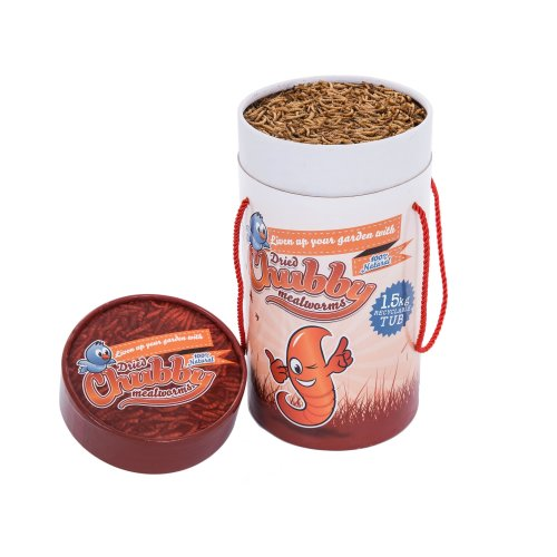 1.5Kg Cardboard Tub Chubby Dried Mealworms for Wild Birds Only