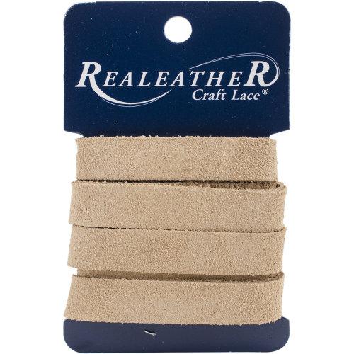 """Realeather Crafts Suede Strip .5""""X36""""-Beige"""