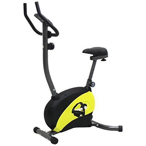 Iliving Magnetic Upright Bike With Adjustable Seat Yellow