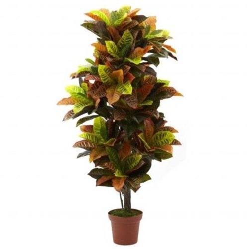 Nearly Natural 6721 56 Inch Croton Plant - Real Touch