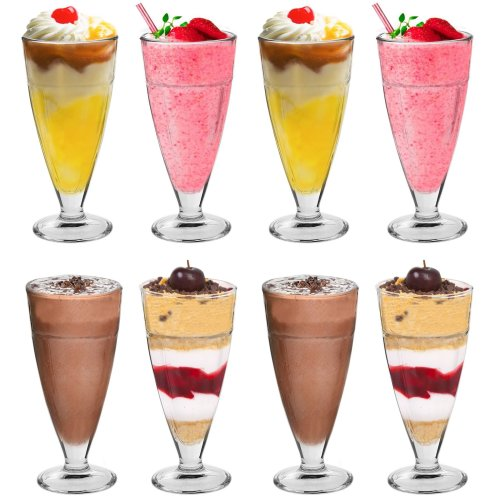 Argon Tableware Knickerbocker Glory Dessert Sundae Glasses - 350ml (12.3oz) Gift Box Set Of 8