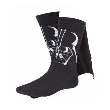 Star Wars Adult Male Darth Vader 3D Cape Crew Socks Size 39/42 - Black