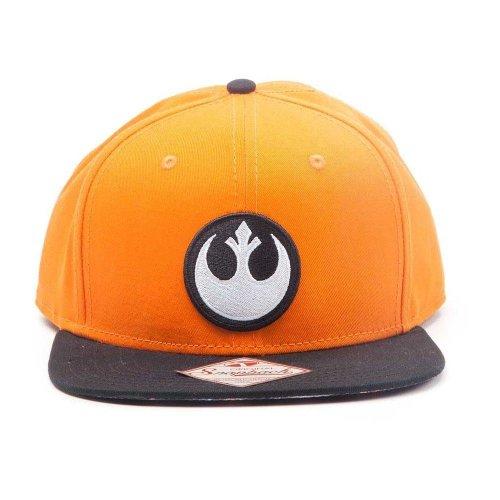 Star Wars Resistance Logo Embroidered Patch Snapback Baseball Cap Orange/Black