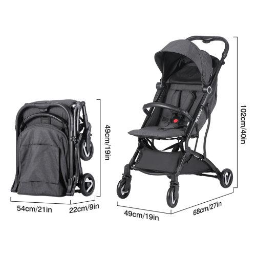 Foldable Baby Stroller Light Weight Toddler Buggy Pram Adjustable
