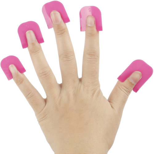 Pack of 26 Pink Plastic Nail Varnish Stencil French Manicure Guide - By TRIXES