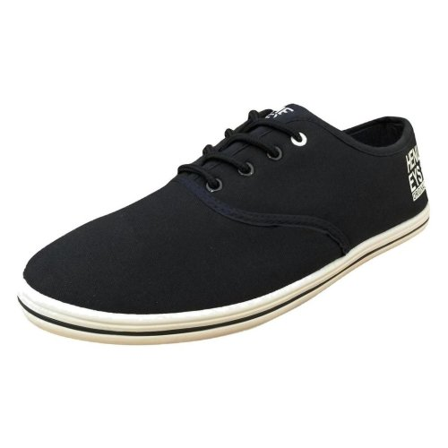 Henleys Men's Stash Canvas Trainers Navy