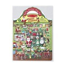 Melissa & Doug Reusable Puffy Sticker Play Set Santa's Workshop