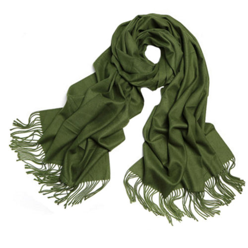 Womens Girls Scarf Comfortable Scarves Shawl Wrap Solid Color, Army Green