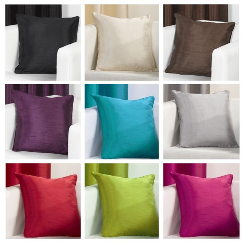 FAUX SILK Slubbed Cushion Covers 17x17 inch