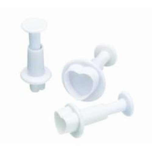 Set Of 3 Heart Shaped Icing Cutters