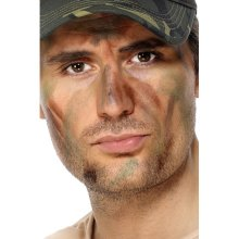 Smiffy's Army Make-up - Fancy Dress Make Up Face Camouflage Costume Paint -  army fancy dress make up face camouflage costume paint military makeup