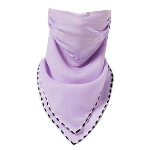 Women Girls Summer Sun Dust Protection Face Mask Neck Gaiter Chiffon Scarf #04