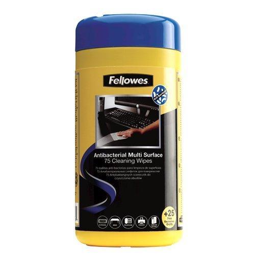 Fellowes 2210913 Screens/Plastics Equipment cleansing wet cloths equipment cleansing kit