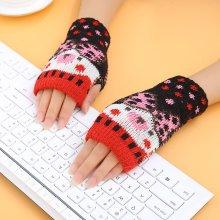 Women Warm Fingerless Knitted Gloves