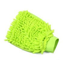 Double-sided Chenille Car Wash Cleaning Tool Dust Cleaning Gloves GREEN