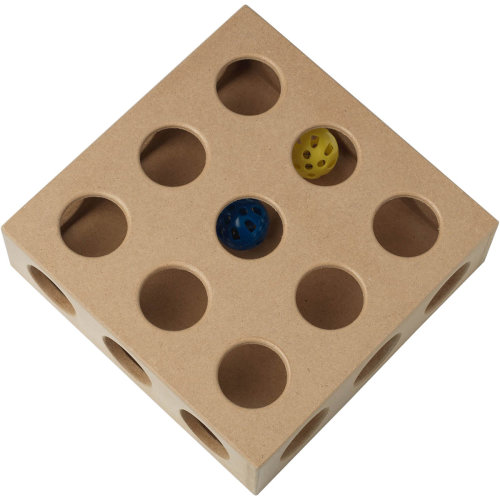 "PetRageous ThinkRageous Interactive Toy 9.45""X9.45""X2.75""-Beginner"