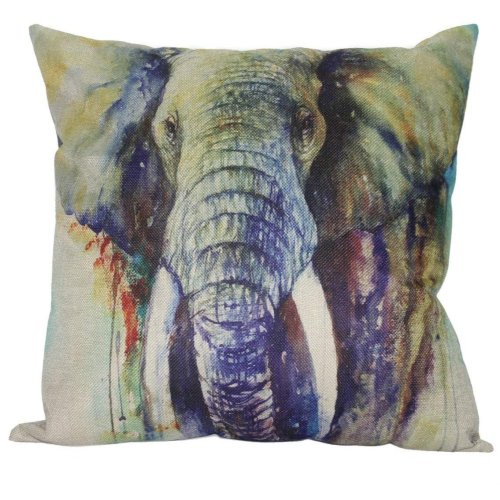 """Melyaxu Elephant Throw Pillow Case Square Cushion Cover for Home Sofa Bedroom Decorative 18""""X18"""" Pillow Cover"""