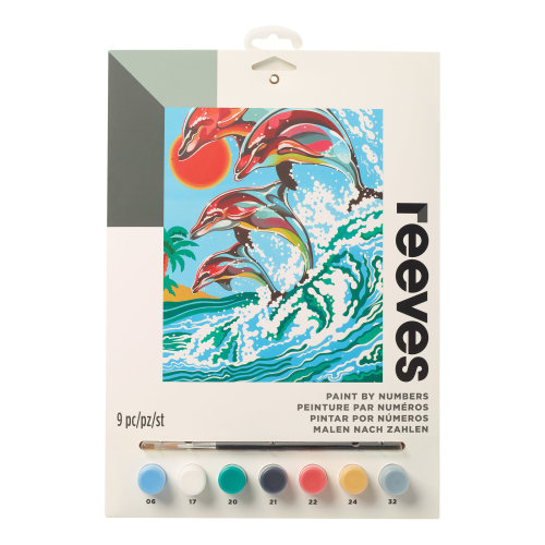 Reeves Painting By Numbers-Dolphins