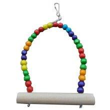 Simple Design Bird Toys--6-Inch Handmade Parrots Swing