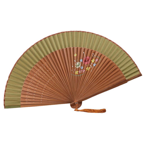 Retro Chinoiserie Silk Fan Hand Fan Beautiful Folding Fan Handheld Fan M