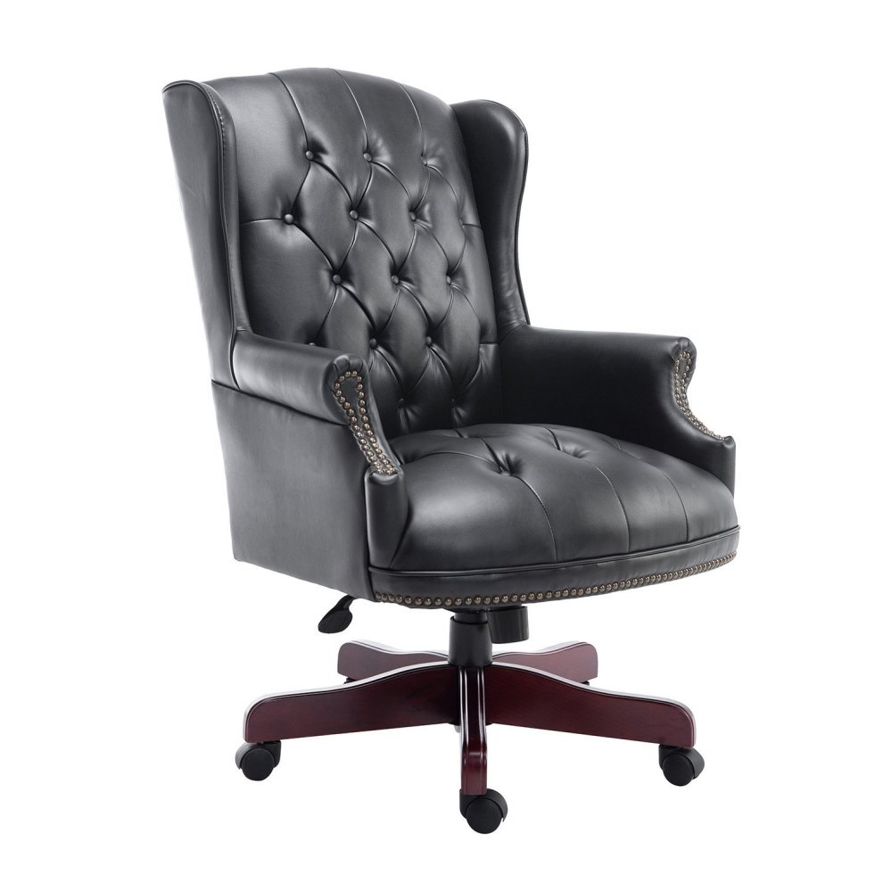 luxury office chairs leather. homcom luxury executive high back office chair pu leather padded swivel armchair chairs o