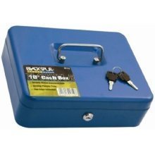 Cash Box Strong Metal Construction With Plastic Tray. 2 Keys Included.code: - -  cash box metal 10 tray 2 keys