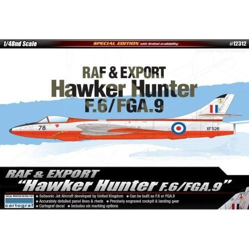 Aca12312 - Academy 1:48 - Hawker Hunter F.6/fga.9 Raf & Export