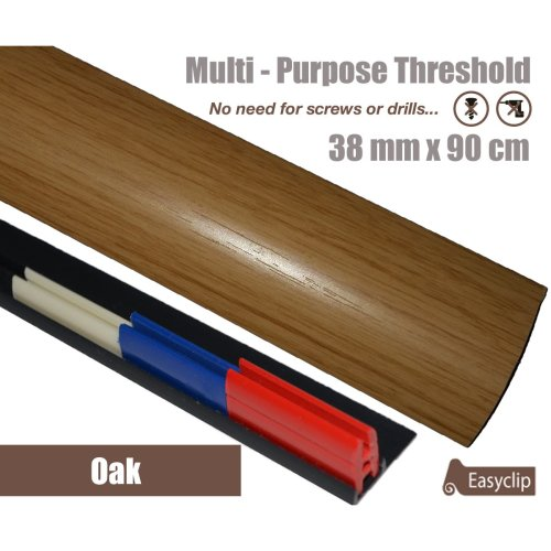 Oak Multi Purpose Threshold Strip 38x90cm Adhesive Clip System