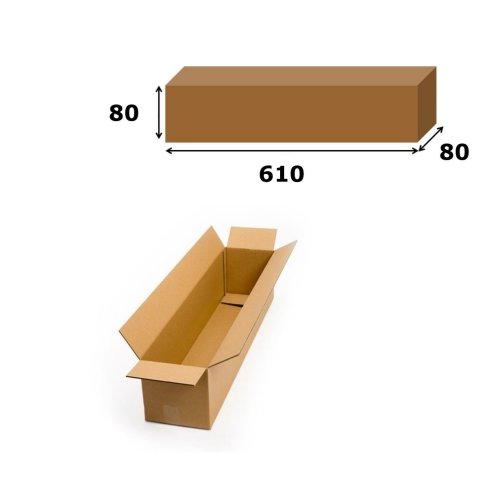 10x Postal Cardboard Box Long Mailing Shipping Carton 610x80x80mm Brown