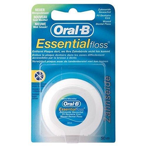 4 x 50m floss Oral-B Essential Floss, MINT