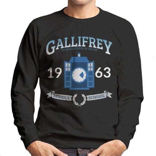 Gallifrey Middle School Doctor Who Men's Sweatshirt