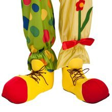 Shoe Clown Fabric Adult Size