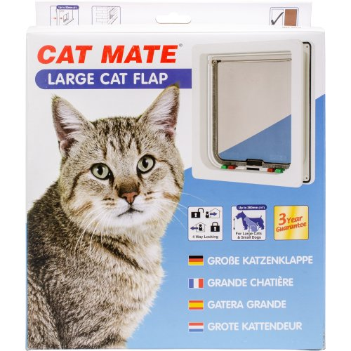 Cat Mate Large Cat/Dog Flap-White