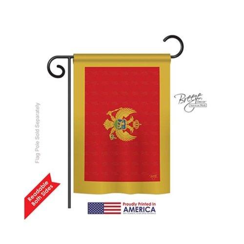 Breeze Decor 58249 Montenegro 2-Sided Impression Garden Flag - 13 x 18.5 in.