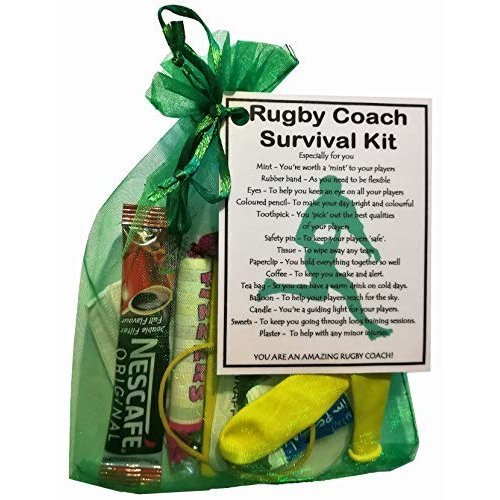 Rugby Coach Survival Kit Gift  - Rugby Coach gifts, gift for Rugby Coach, thank you gift for Rugby Coach gift