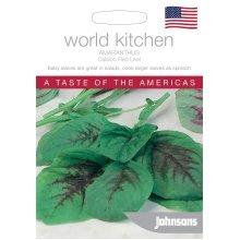 Johnsons World Kitchen Vegetable - Pictorial Pack - Amaranthus Calaloo Red Leaf - 500 Seeds