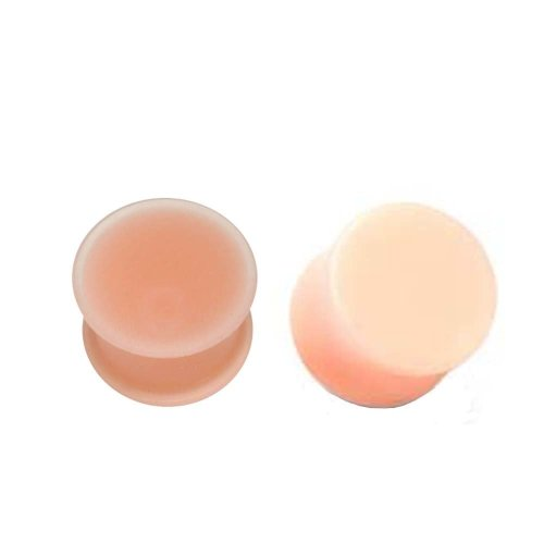 Urban Male Two Pack - Acrylic & Silicone Skin Tone Double Flared Hider Plugs 4mm Gauge