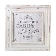 Cards Framed Square Sign White