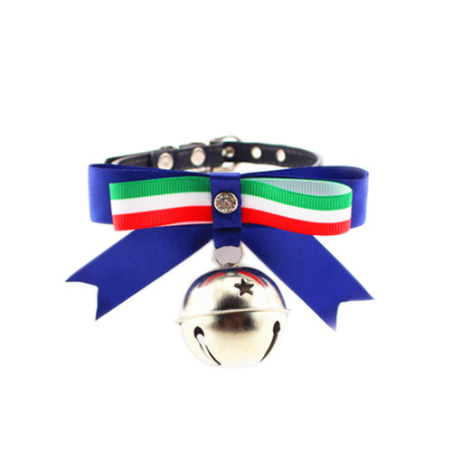 [Italy] Adjustable Bow Tie with Bell Collar for Cats, Dogs(Fit 21~26cm Neck)