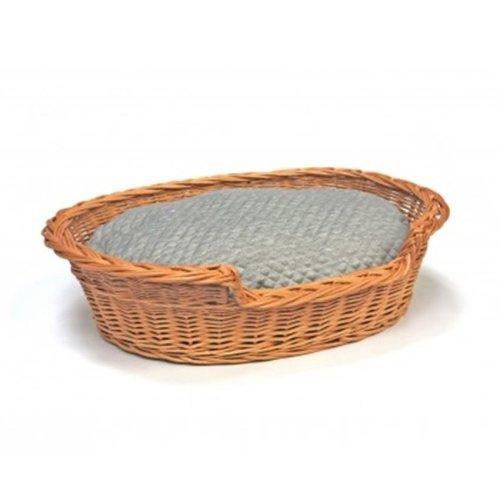 Jumbo Willow Dog Cat Pet Wicker Basket Soft Cushion