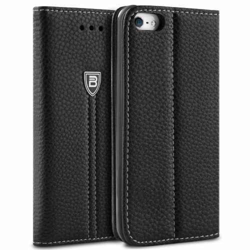 80ddec89ff BEZ iPhone 5S Case Wallet Flip Case for iPhone 5 5S SE, Protective Faux Leather  Cases Cover with Credit Card Holders, Kick Stand, Magnetic Closure... on ...