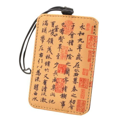 Travel Tag Gifts Luggage Tags Silk Brocade Luggage Labels ,Lanting Preface