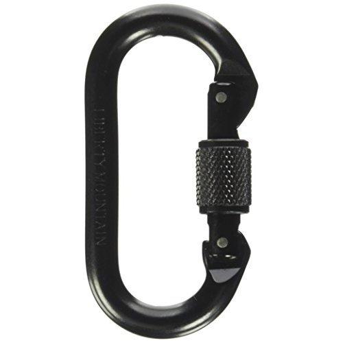 Liberty Mountain Oval Screw Gate Carabiner (Black)