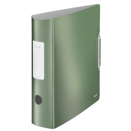 Leitz Lever Arch File, Celadon green, A4, Curved spine 8.2 cm width, Elastic fastening, Light polyfoam, Style Range, 11080053